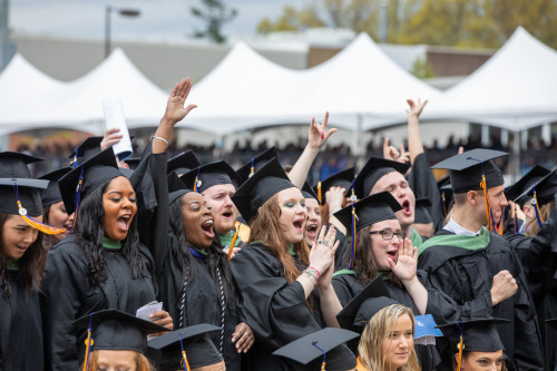 Merrimack College held its 69th Commencement exercises for 770 undergraduates and 486 graduate st...