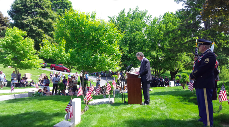 Alex Rankin '97, was guest speaker for Memorial Day observation in North Andover, Mass.