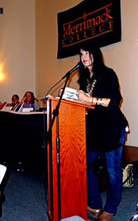 Recently named national poet laureate Joy Harjo visited Merrimack College in 2010 and made lastin...