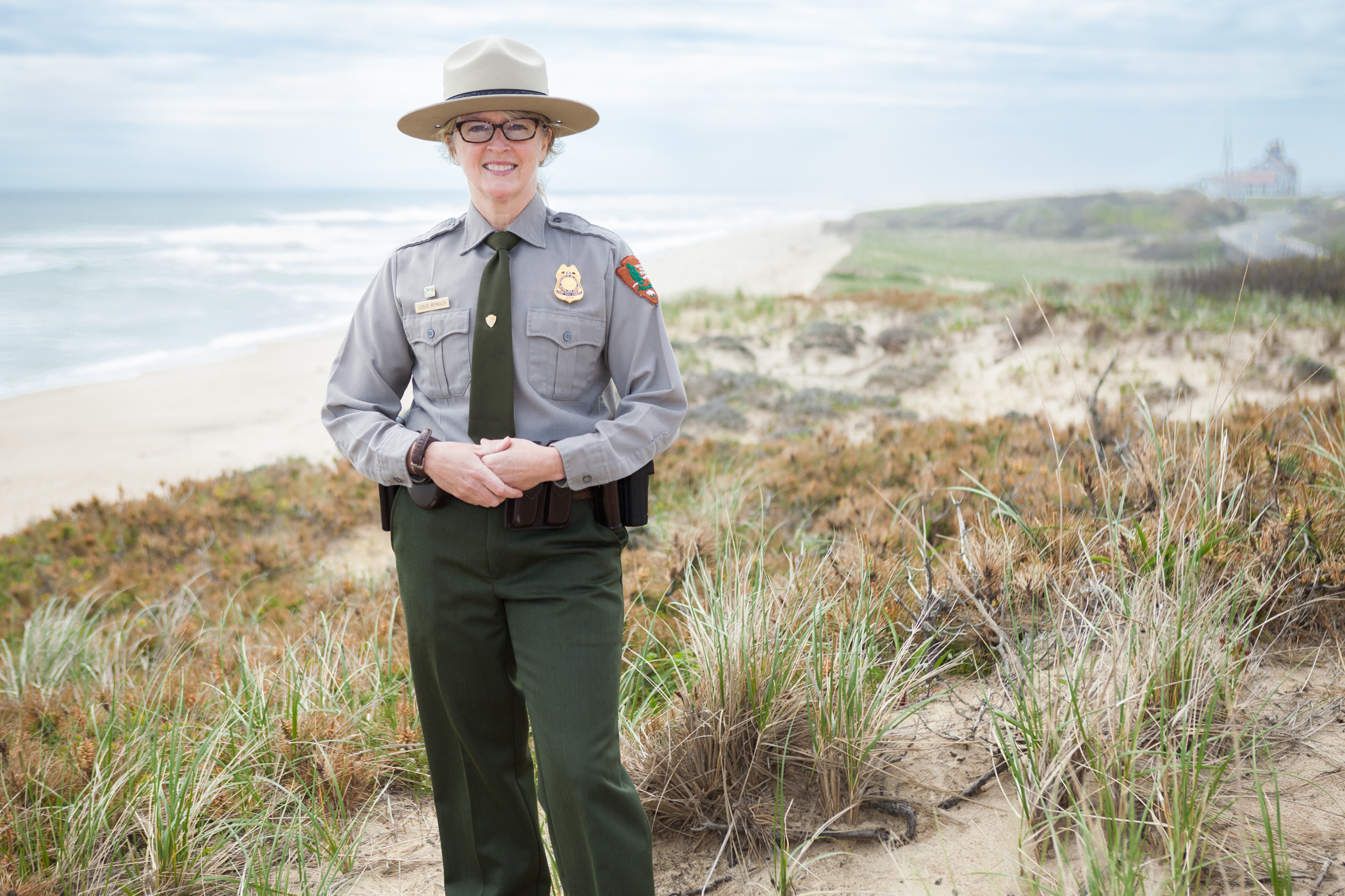 Leslie Reynolds '91 is the interim chief park ranger for Yellowstone National Park (pictured at C...