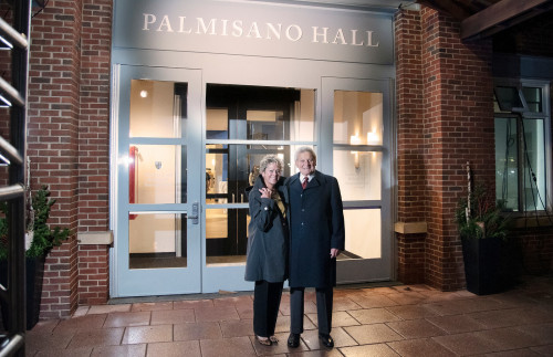 The Palmisano Hall dedication ceremony took place on November 18, 2019.