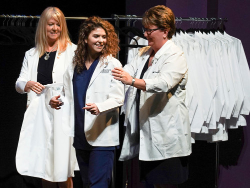 Merrimack's inaugural White Coat Ceremony encouraged nursing students to practice empathy.