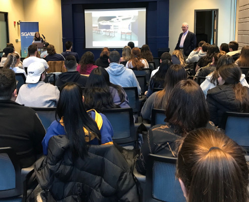 Merrimack students joined President Hopey and the Student Government Association for an evening o...