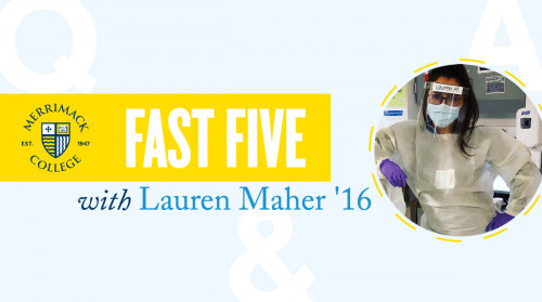 Merrimack alumnus and nurse Lauren Maher '16 advises students to know they don't have t...