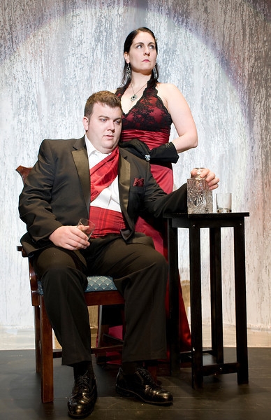 Beth Sousa, '02 as Lady Macbeth and Kevin T. Welch, '14 as Macbeth.Photo credit: Kevin Salemme