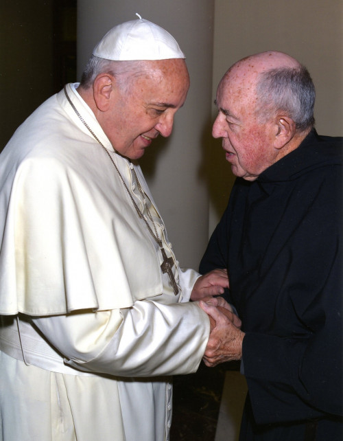 Father Jim Wenzel with Pope Francis