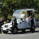 Pope Francis drove through the streets of Washington, D.C. in his open-air so-called popemobile under tight security Thurs...
