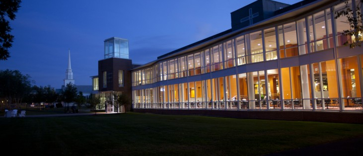 The Gladys Sakowich Campus Center, the heart of campus activities.
