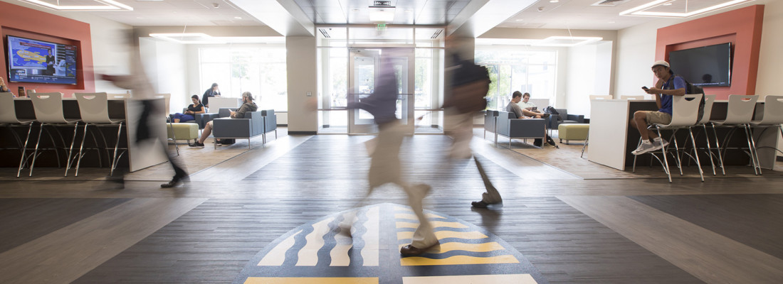 Photographs of Crowe Hall and new spaces for Merrimack College web site and publications.