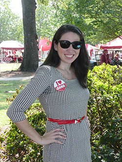 Incoming professor Anna-Leigh Stone, a lifelong fan of Alabama football and a big supporter of the Crimson Tide.