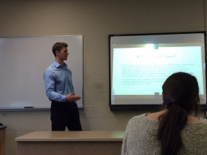 Cam Ferry '16 presents about his internship experiences.