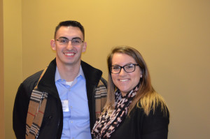 Accounting Coop students Anthony DeAngelo '16 and Aimee Sinewitz '16
