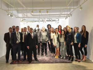 Marketing & Management students visit the Calvin Klein offices in NYC - March 2017.