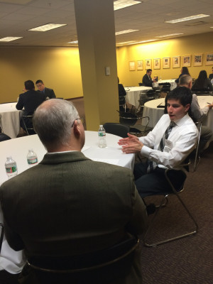 Graduate Students and professionals participate in mock interviewing
