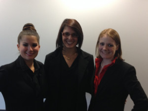 Competition winners: (from left) Michelle Buckley, Lauren Boyer and Jennifer Brooks.