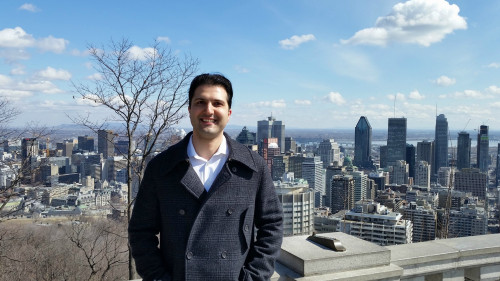 Kaveh Moradi in Mount-Royal Park, Montreal, Quebec