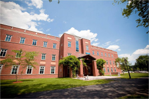 Mendel Hall, the beautiful home of Merrimack's School of Science and Engineering.