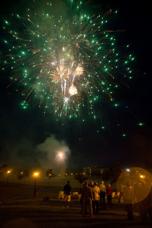 A view of the fireworks display at Reunion Weekend 2012