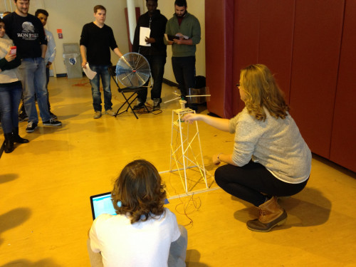 iTEC students tested their wind turbines