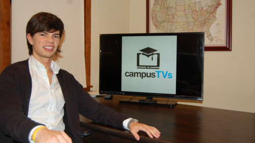 CampusTVs cofounder Scott Pirrello hopes to rent Vizio televisions to every college freshman someday. (Credit: CampusTVs)