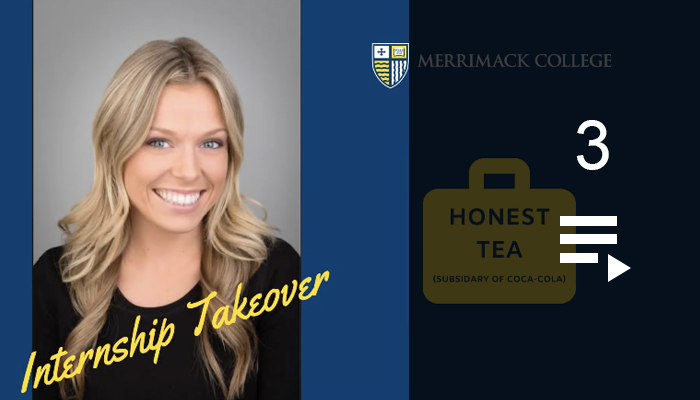 Merrimack College YouTube video internship takeovers