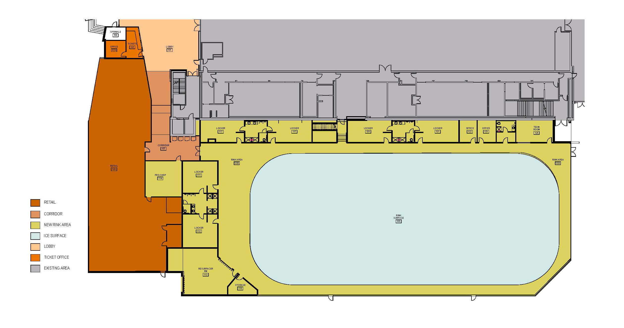 Floor Plan - Second Ice Rink and New Entry